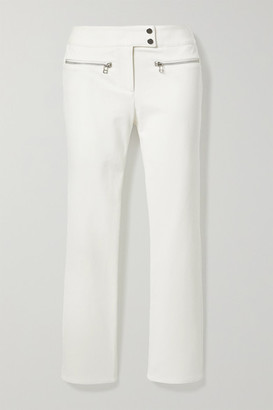 Veronica Beard Metro Cropped Stretch-twill Flared Pants - White