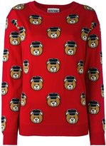 Moschino Toy bear intarsia jumper - women - Virgin Wool - XS