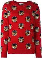 Moschino Toy bear intarsia jumper