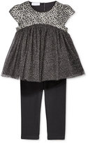 First Impressions 2-Pc. Brocade Tulle Tunic & Leggings Set, Baby Girls (0-24 months), Only at Macy's