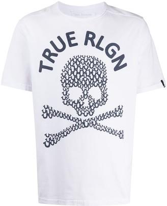 True Religion logo skull print T-shirt