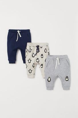 H&M 3-pack Cotton Joggers