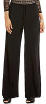 M.S.S.P. Pull-On Wide Leg Solid Crepe Pant