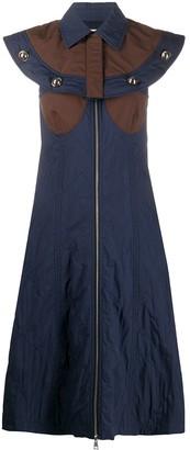 Moncler 2 cape detail midi dress