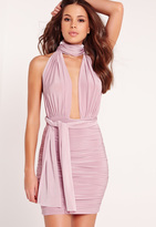 Missguided Multiway Slinky Bodycon Dress Lilac