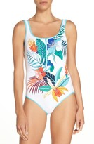 Tommy Bahama Women's Hibiscus Print One-Piece Swimsuit