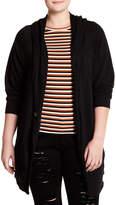 Caslon Long Sleeve Shawl Collar Knit Jacket (Plus Size)
