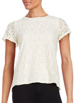 Tommy Hilfiger Floral Lace Short Sleeved Top