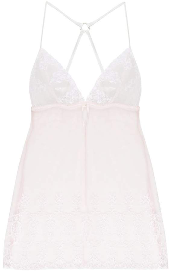 Fleur of England sheer lace night gown