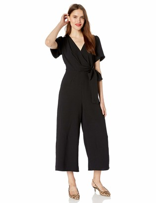 ASTR the Label Women's Gladys Wide Leg Cropped Surplice Jumpsuit