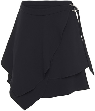 IRO Wrap-effect Layered Crepe Mini Skirt