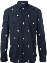 Neil Barrett fleur-de-lis print shirt - men - Cotton - 39
