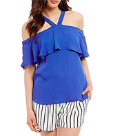 Skies Are Blue Popover Halter Top