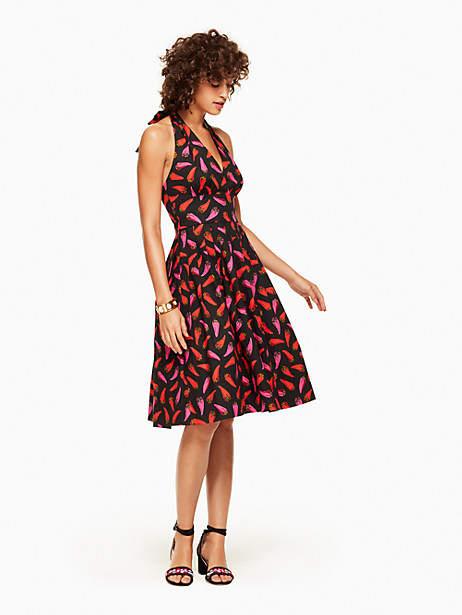 Kate Spade Hot pepper halter dress