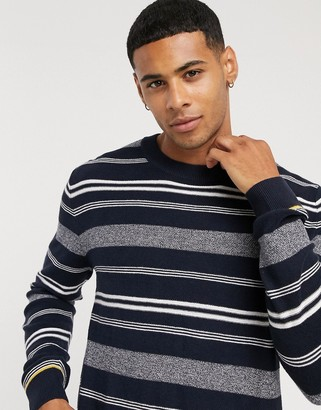 Jack and Jones Originals sweater in navy stripe