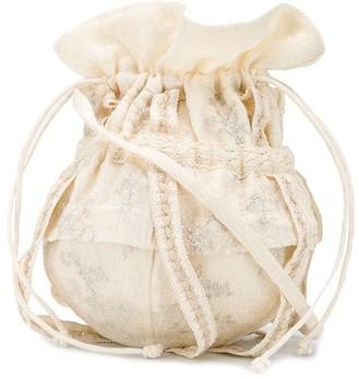 Renli Su Lace-Trimmed Mini Bucket Bag