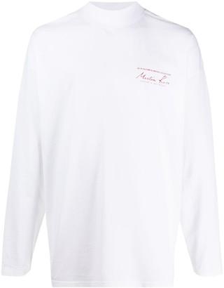 Martine Rose logo print long-sleeved T-shirt