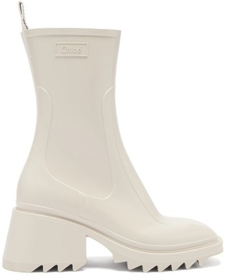 Chloé Betty Heeled Rubber Boots - Grey