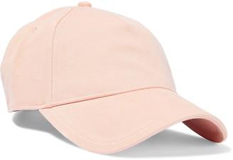 Rag & Bone Marilyn Leather-trimmed Cotton-twill Baseball Cap