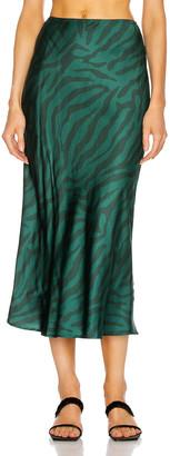 Andamane Bella Midi Skirt in Green Zebra   FWRD