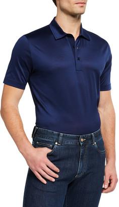 Canali Men's Mercerized Cotton Polo Shirt