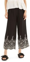 Topshop Women's Embroidered Leg Trousers