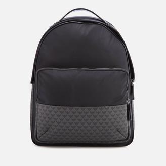 Emporio Armani Men's Nylon Backpack - Grey/black
