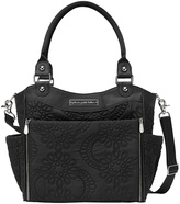 Petunia Pickle Bottom Black & Silver Embossed Central Park North Stop Diaper Bag