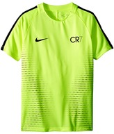 Nike Dry Squad CR7 Short Sleeve Soccer Top (Little Kids/Big Kids)