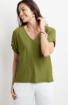 J. Jill Lightweight Dolman-Sleeve Sweater