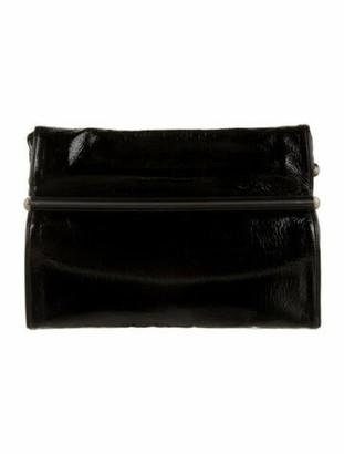 Dries Van Noten Patent Leather Clutch Black