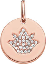 Thomas Sabo Love coin rose gold-plated sterling silver engravable lotus pendant