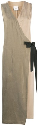 Alysi Sleeveless Mid-Length Wrap Dress