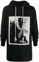 Rick Owens DRKSHDW Photo print hoodie -Black