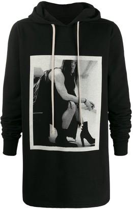Rick Owens Photo print hoodie