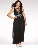 Quiz Curve Chiffon Embellished Maxi Dress