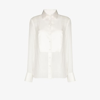 Tom Ford Bib detail silk blouse