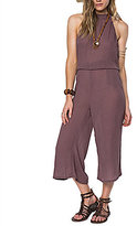 O'Neill Ronson Halter Neck Woven Culotte Jumpsuit