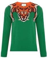 Gucci Tiger-intarsia Wool Sweater