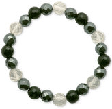 Macy's Faceted Bead Monochromatic Stretch Bracelet