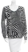 Tom Ford Silk Zebra Print Blouse