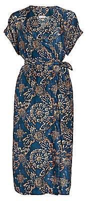 Brunello Cucinelli Women's Floral Silk Wrap Dress