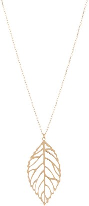 KARAT RUSH 14K Yellow Gold Cutout Leaf Pendant Necklace