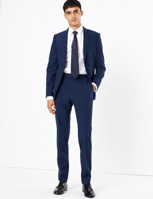 Marks and Spencer The Ultimate Big & Tall Blue Skinny Fit Jacket