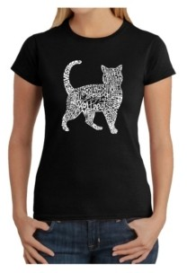 LA Pop Art Women's Word Art T-Shirt - Cat