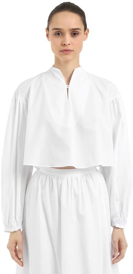 Stella Jean Cotton Cropped Top