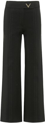 Valentino High-rise wide-leg pants