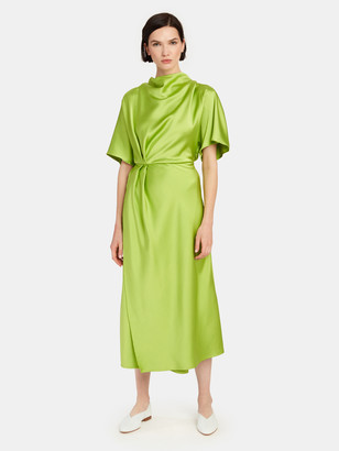 Stine Goya Rhode Mock Neck Midi Dress