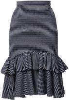 Tome ruffled striped skirt - women - Polyamide/Spandex/Elastane/Viscose - 0