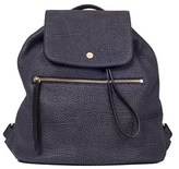 Borbonese Women's Black Leather Backpack.